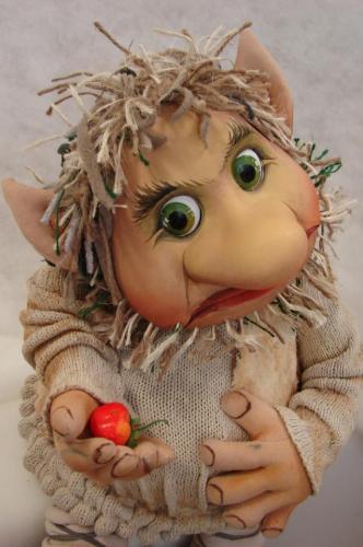 Deze prachtige trol is gemaakt voor de nieuwe voorstelling van kabouter Thijm.