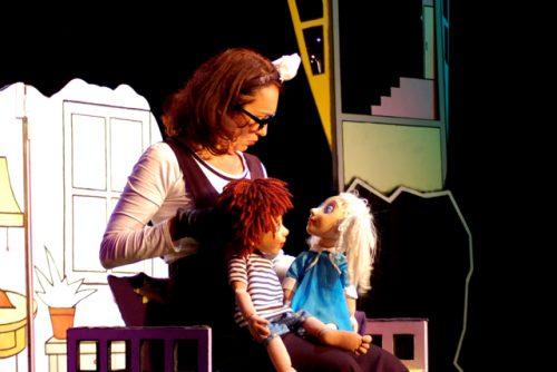 Christina met Roosje en Thijs