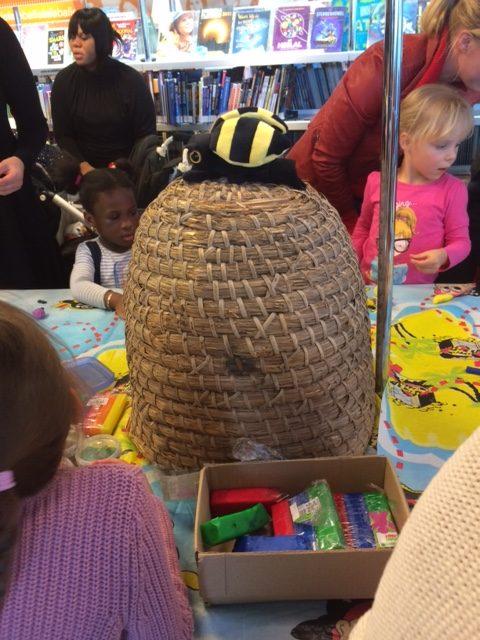 Bijenkorf bij de workshop